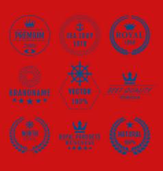 Set of logos vector