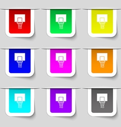 Basketball backboard icon sign Set of multicolored vector image vector image