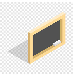 board with chalk isometric icon vector image