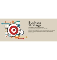 Business strategy concept Flat banner design vector image vector image