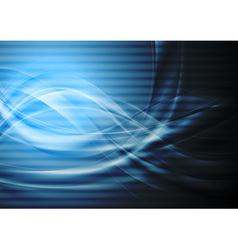 Dark blue wavy backdrop vector image