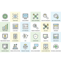 Seo and Development Icons 1 vector image vector image
