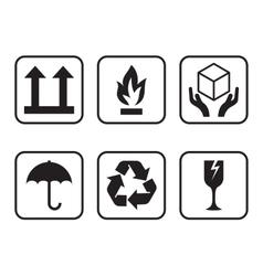 Set of symbols for cardboard boxes vector image