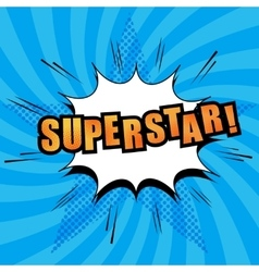 Superstar comic text vector image vector image