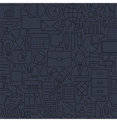 Thin Line Dark Grey Office Business Seamless vector image vector image