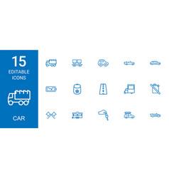 15 car icons vector