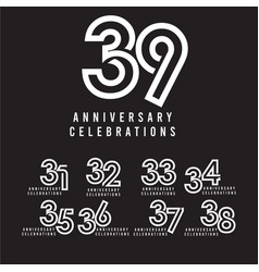 39 years anniversary celebration template design vector