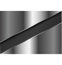 abstract metal square mesh slash in silver plate vector image