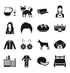 Alcohol animal style and other web icon in black vector