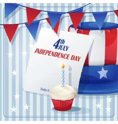 background to independence day on july 4 vector image