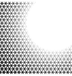 Background with gradient triangle shaped cells vector