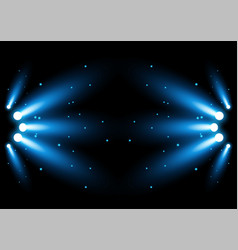 bright blue stadium arena lighting spotlight vector image