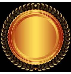 Bronze round frame vector image vector image