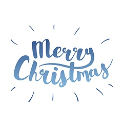 Brush lettering that says Merry Christmas vector image