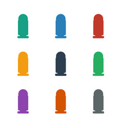 Bullet icon white background vector