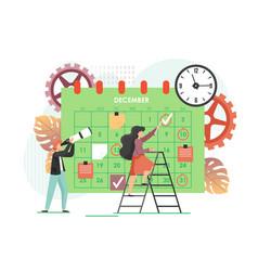 calendar planner flat style design vector image