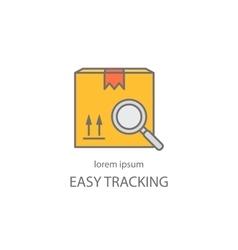 Cargo tracking logotype vector image