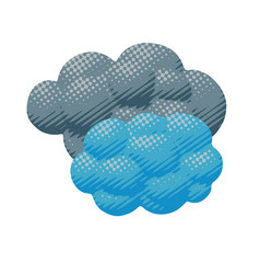 Cartoon cloudy overcast weather object vector