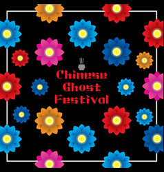 Chinese ghost festival banner vector
