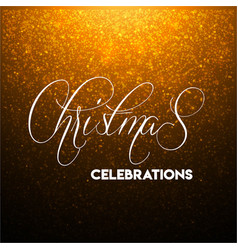 christmas glitter background vector image