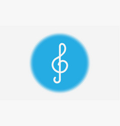 clef icon sign symbol vector image