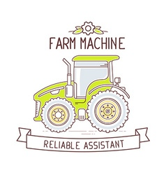 color gray and green farm machine and ri vector image