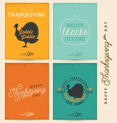 Colorful Typographical Thanksgiving Greeting Card vector
