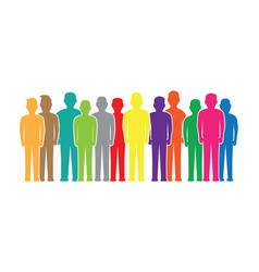 Colourful people silhouettes vector
