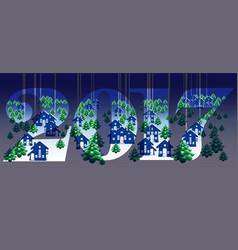 Creative happy new year 2017 design vector