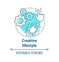 Creative lifestyle blue concept icon vector