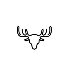 deer hunt logo vector image