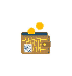 digital wallet concept flat icon vector image
