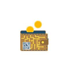 digital wallet concept flat icon vector image