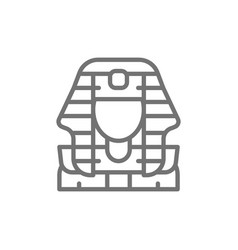 egyptian pharaohs mask tutankhamun line icon vector image