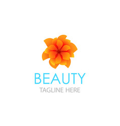 emblem in eps 10 for beauty saloon floral store vector image