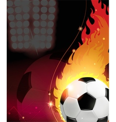 Fire soccer ball vector