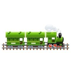 green retro locomotive vector image