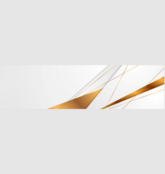 Grey and bronze abstract corporate style banner vector