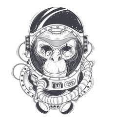 Hand drawn of a monkey vector