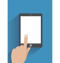Hand holding smartphone with blank screen vector image