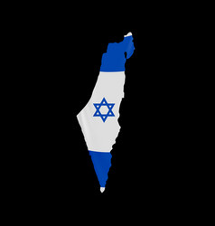 hanging israel flag in form map state of vector image