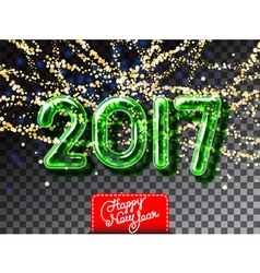 Happy New 2017 Year garland invitation vector