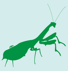 image of a silhouette of a mantis vector image