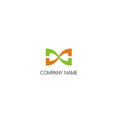 infinity unusual company logo vector image