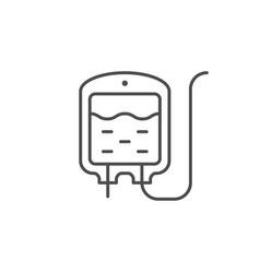 intravenous bag line outline icon vector image