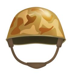khaki helmet mockup realistic style vector image