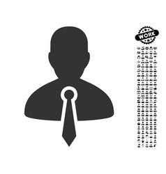 Lawyer icon with job bonus vector