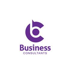 letter bc logo design template vector image