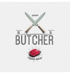Meat store badges logos and labels for any use vector image