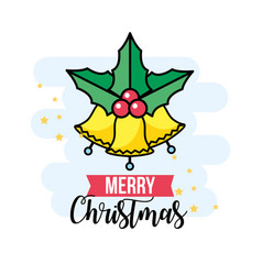 merry christmas event with traditional celebration vector image